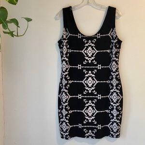 ✨NEW✨ Xhilaration Black Tribal Print Dress, XLarge